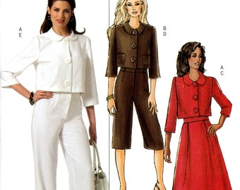 Butterick B4999 Waist Length Jacket Skirt Capri Pants Size 16 18 20 22 Uncut Sewing Pattern 2007
