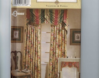 Craft Sewing Pattern Simplicity 8803 Home Decor Valances and Panels Window Treatment UNCUT  99