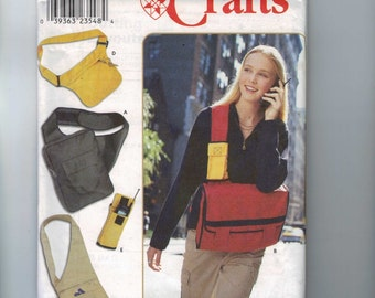 Craft Sewing Pattern Simplicity 9000 Messenger Bag Pack Purse Cell Phone Holder UNCUT