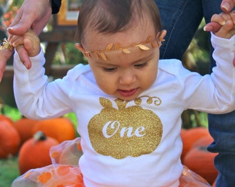 First Birthday Outfit Girl Bodysuit, Cake Smash Outfit Girl Bodysuit, Pumpkin 1st Birthday Outfit Girl Bodysuit, Pumpkin Patch Bodysuit