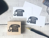 Vintage Rotary Telephone Rubber Stamp - Retro Phone 4 Calling Cards Business Cards Secretary Notes Long Distance Love Notes