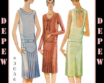 Vintage Sewing Pattern Reproduction Ladies' 1920's Flapper Dress #3056 - INSTANT DOWNLOAD PDF