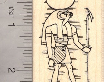 Ra, Egyptian Sun God Rubber Stamp (AKA Ré) H13701 Wood Mounted