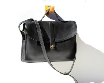 Women's Coach Black Leather Briefcase