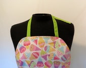 Full Apron - Reversible - Ice Cream Cones and Polka Dots