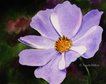 Original Watercolor Painting, Flower Painting, Fine Art, Realism, Original Painting, Purple, Purple Whimsy