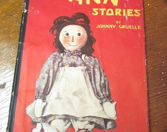 Vintage 1918 Book The Original Raggedy Ann Stories by Johnny Gruelle with News Clippings