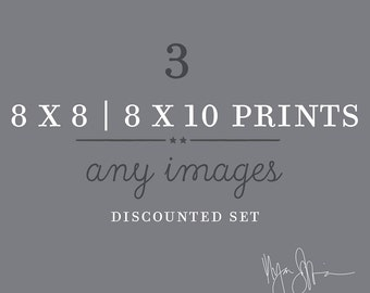 discounted set, any three 8x8 8x10 prints your choice, save over 20%, LA photos, California decor, travel beach nursery prints