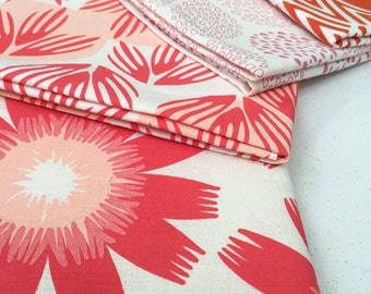 SALE Hand Printed Fabric - Shades of Pink