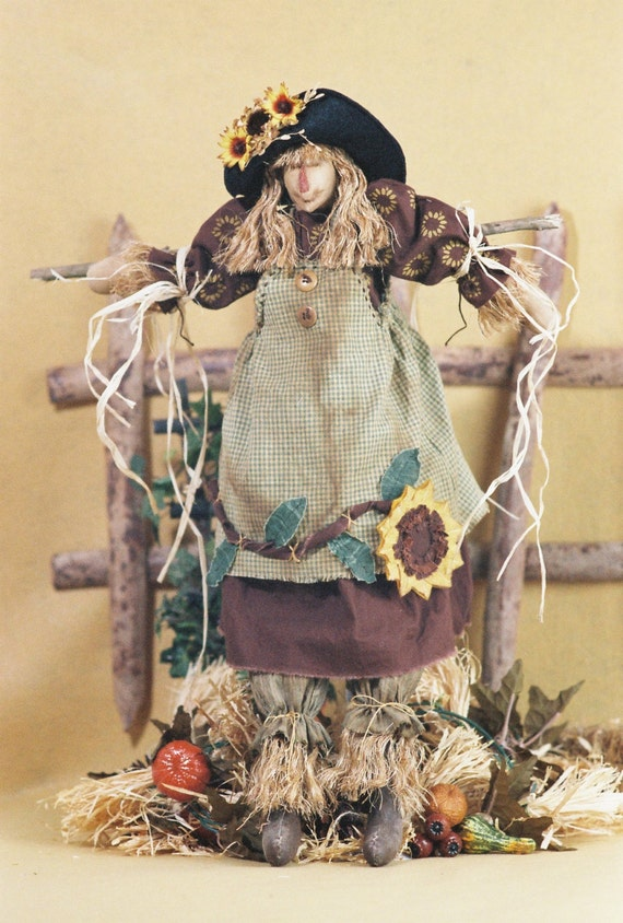 Mailed Cloth Doll Pattern- 24in Autumn Girl Scarecrow