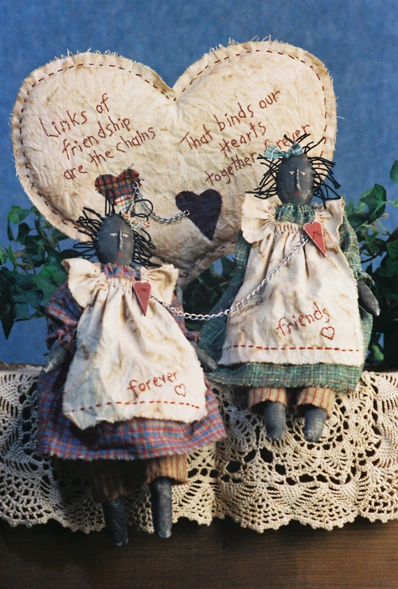 Mailed Cloth Doll Pattern - Primitive Friendship Doll