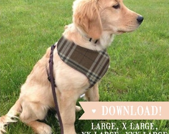 DIY Dog Harness LARGE Breed, Sewing Pattern & Full Instructions PDF Download
