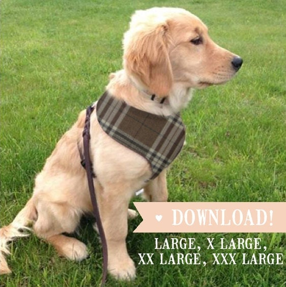 DIY Dog Harness LARGE Breed Sewing Pattern & Full