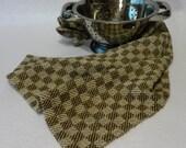 Handwoven Cotton/Linen Towel for Kitchen & Bath -  Brown Check Towel - Handtowel, Kitchen Towel, Handwoven Towel, Tea Towel