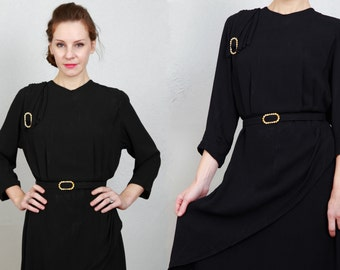 SALE - Antique Black Dress LBD
