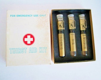 Thirst Aid Kit Emergency Use Only, Barware Test Tubes, Shot Glass Set, Freed Novelty Co, covered glass tubes, pocket clips Party Shooter Kit