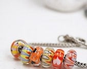 Charm Bracelet Beads // Hearts // Charm Beads // Hand Blown Murano Glass