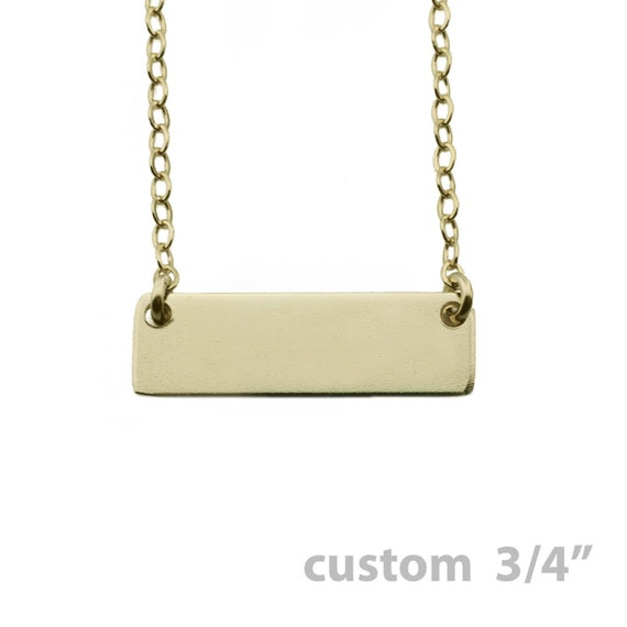 """Custom Necklace - Gold Name Plate Necklace 3/4"""""""