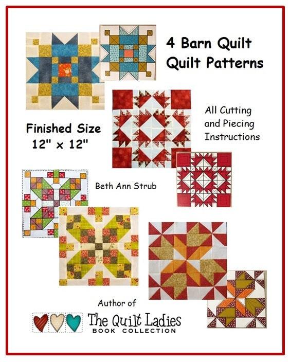 4 Barn Quilt Patterns The Quilt Ladies Pdf Downloads In