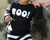Boo! Spooky, Little Ghost, Halloween Long Sleeve T-shirt, etsy kid's fashion 12-18, 18-24 mos, 2T, 4T