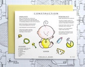Project Baby - Blank Architecture Construction Card