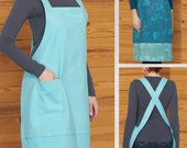 Bistro Apron PDF sewing epattern - quick & easy utility style apron for garden, kitchen or everyday wear