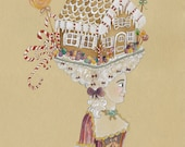 Gingerbread House Christmas Cards French Christmas Cards Unique Christmas Cards Pretty Christmas Cards Marie Antoinette Style Cards Set