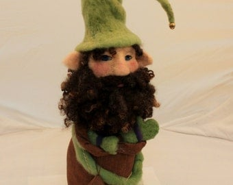 Gnome, Needle Felted Gnome, Garden Gnome, Felted Gnome, Forest Gnome # 1984