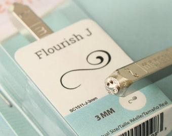 3mm Metal stamp flourish design ImpressArt metal stamp