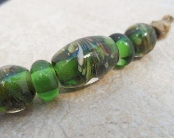 Big Hole  Beads -  Handmade Lampwork Beads
