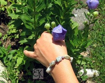 Gemstone Bracelet, Jasper Bracelet, Stretch Bracelet, Rock Bracelet, Chunky Bracelet, Natural Bracelet, Fancy Jasper Bracelet, Gem Bracelet