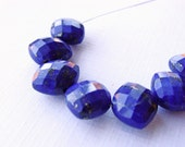 Lapis Lazuli Faceted Oval Bead, Blue Lapis Lazuli Oval Bead, Lapis Lazuli Side Drilled Oval, 12mm, (7), #1, 10% off use code SAVE10