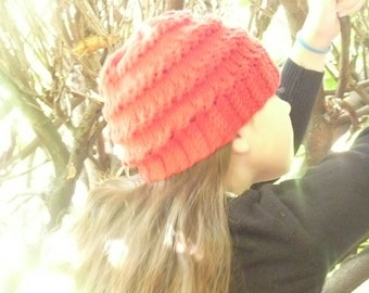 Beanie Hat Knitting Pattern - Tam Beret - Chatsworth Hat - 3 Sizes - Toddler, Child, Adult