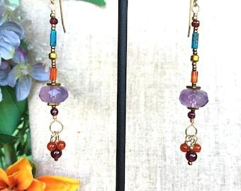 Forest Fairy Earrings in Gold dust
