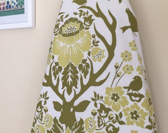Ironing Board Cover - Antler Damask in Sage