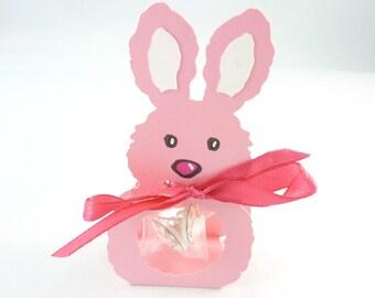 """Rabbit Earrings Gift Set.  Easter Gift Set Rabbit Earrings.  1/2"""" or 13 mm Round.  Cute Earring Gift Wrap."""