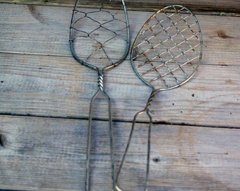 Antique Wire Whip Whisk Egg Beaters Primitive Lot of 2