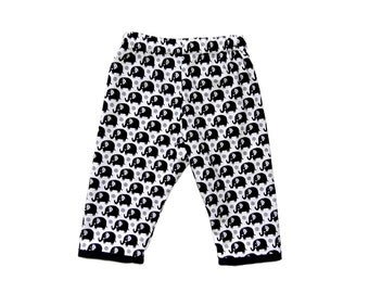 Elephant Clothes - Black And White - Black Pants - Zoo Animal Prints - Animal Clothes - Toddler Pants - Boy Pants - Girl Pants - 2T