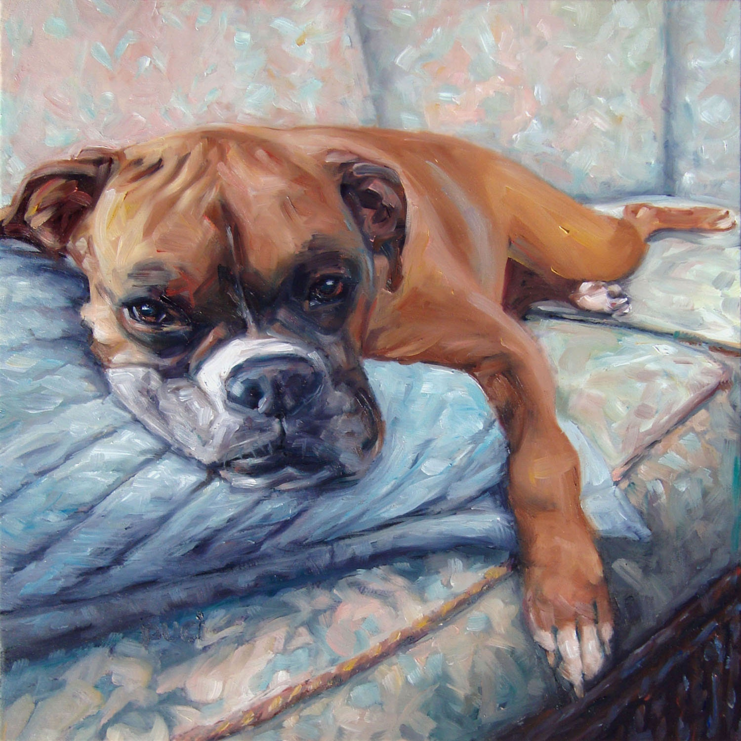 Couchpotato custom dog paintings pet portraits paintings in for Painting of your dog