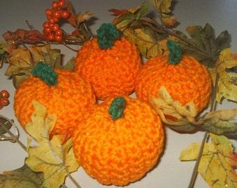 """Crochet Mini Pumpkin 3"""" Thanksgiving Halloween Ornament"""