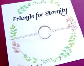 Dainty FRIENDSHIP BRACELET, Minimal silver bracelet, stacking bracelet, minimalist jewelry, best friend gift, BFF gift, simple bracelet