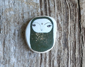 Beach Pottery Jizo Bodhisattva - Wabi Sabi, Inner Child, Peace, Buddhism, Healing, Compassion, Inward, Subtle, Silent, Solitude, Meditation