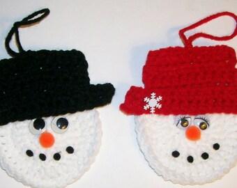 Mr & Mrs Frosty the Snowman Ornaments