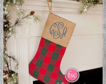 """Shop """"monogrammed christmas stockings"""" in Home & Living"""