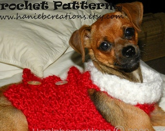 Christmas Doggy Sweater (Crochet Pattern PDF)