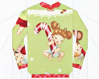 Christmas Sweater #7 PDF Paper Piecing Pattern