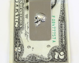 Silver Skull Money Clip Profile Skull Money Clip 2070