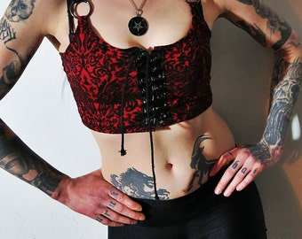 Hell Couture Countess Lace Up Cami