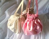Bridal Pouch, Choose Your Color, Satin Dance Bag, Bridesmaid Purse, No Pockets
