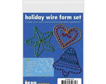 Ornament Kit Holiday Wire Form Set DIY Beaded Ornament Kit Christmas Ornament Bead Kit